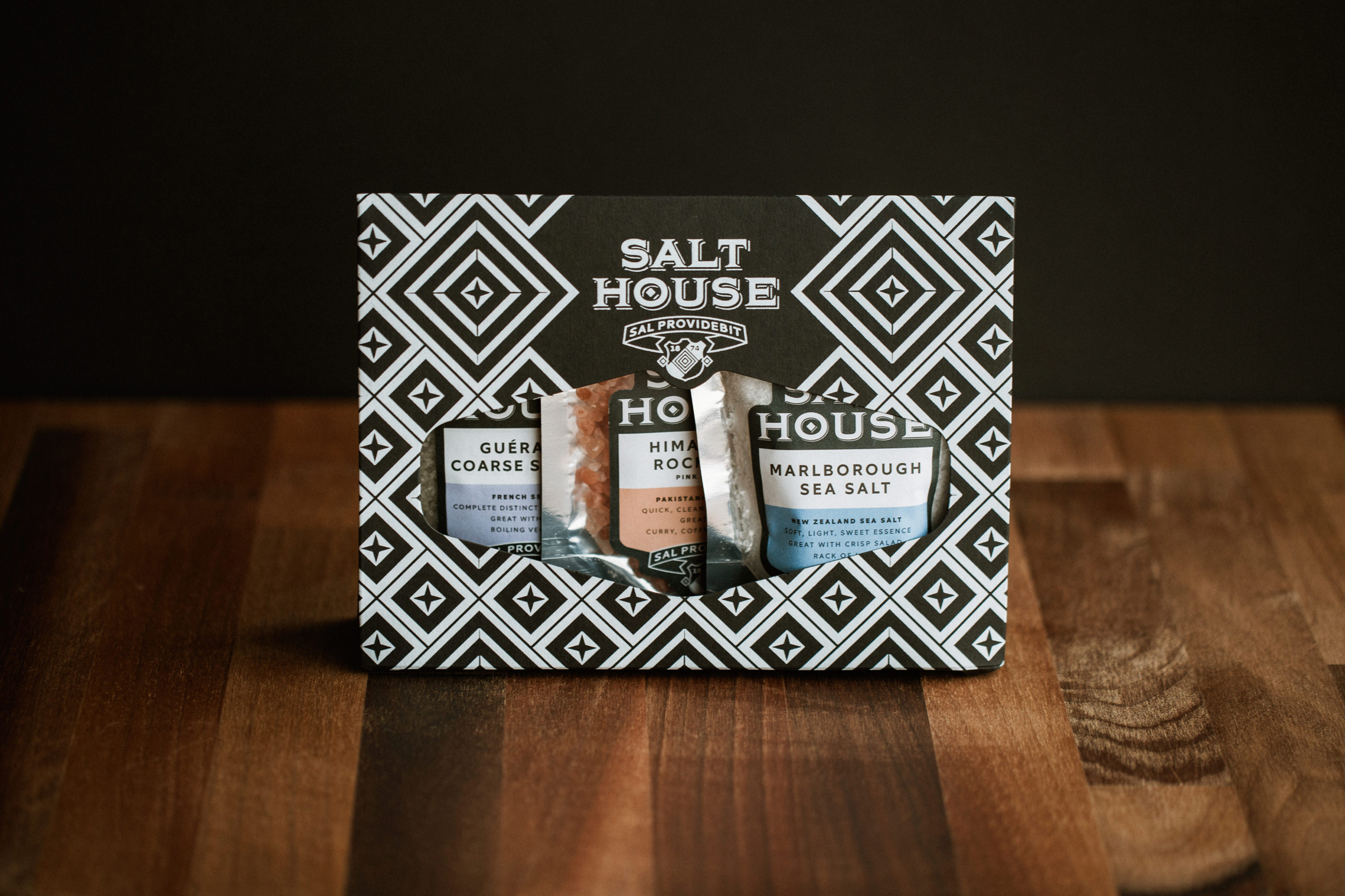 Miele Salthouse and Peppermongers Salt Range Packaging