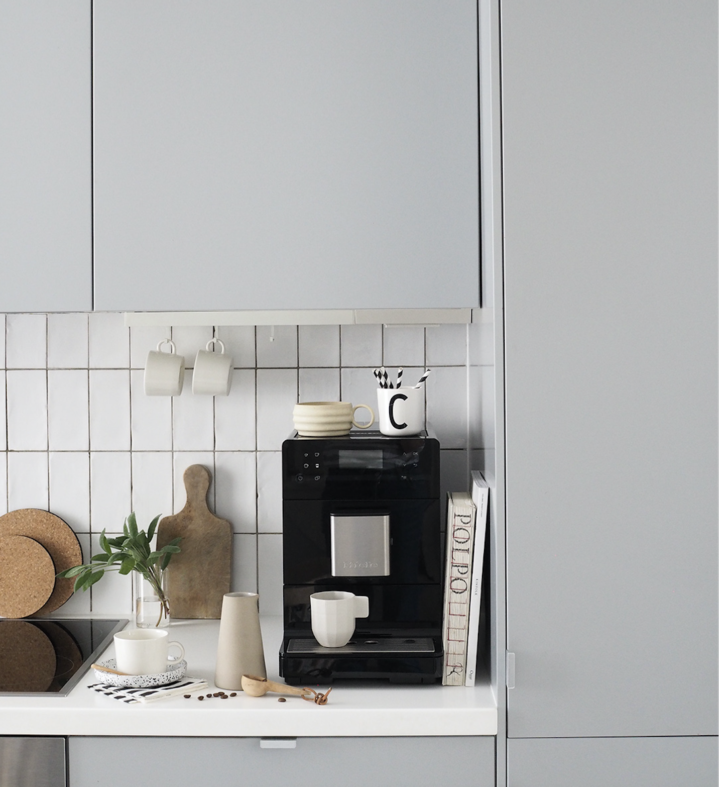 Cate St Hill Minimal Kitchens Coffee Machine